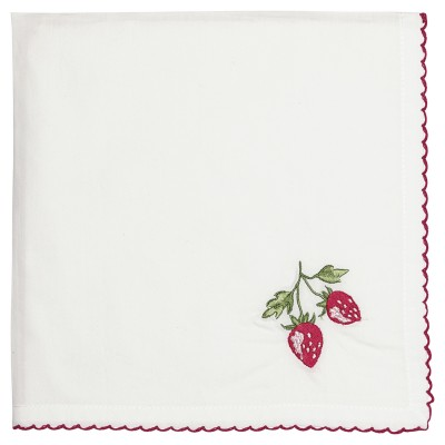 Салфетка Strawberry red w/embroidery 40x40 см