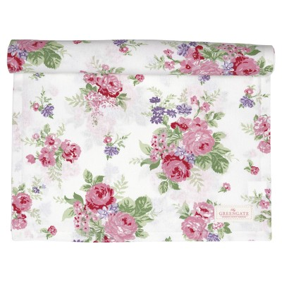 Столовая дорожка Rose white 45x140 см