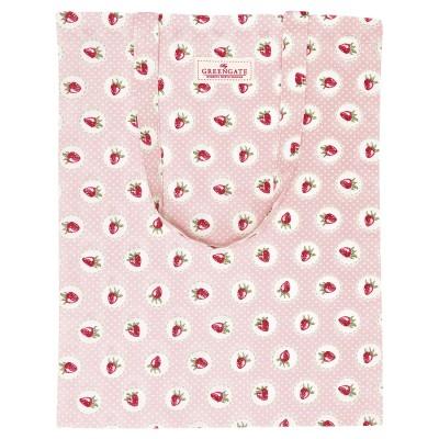 Сумка хлопковая Strawberry pale pink