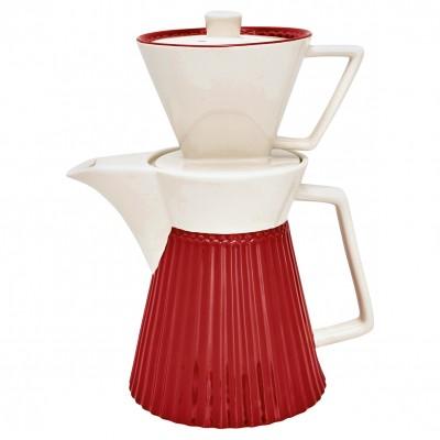 Кофейник Alice red