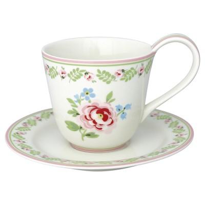 Чайная пара Lily petit white 270 мл