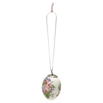 Набор из 2-х декоративных яиц Rose white