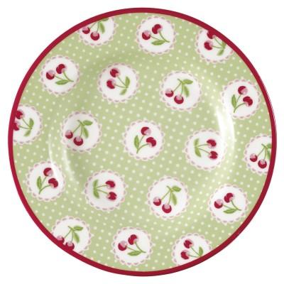 Десертная тарелка Cherry berry p.green 15 см