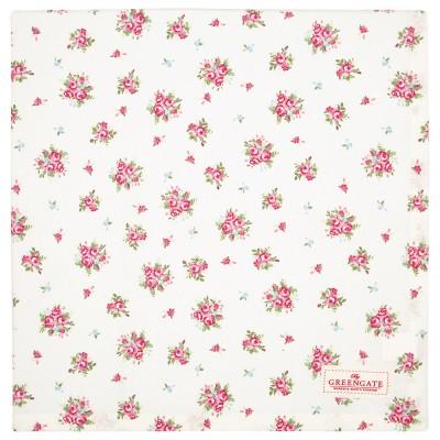 Скатерть Abigail white 150х150 см