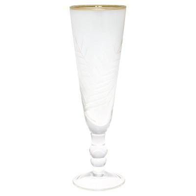 Бокал для шампанского резной gold