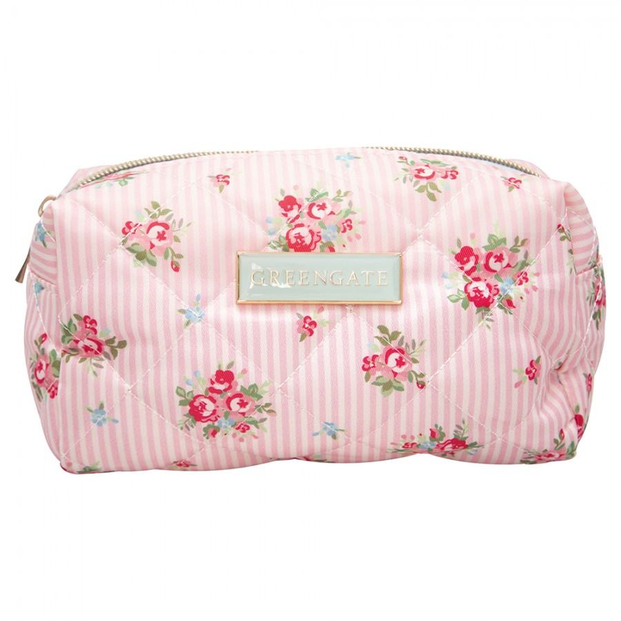 Косметичка Abigail stripe pale pink small