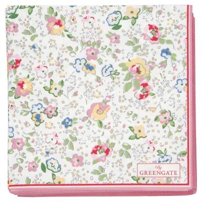 Салфетки бумажные Vivianne white 25х25 см 20 шт