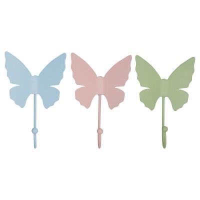 Набор крючков Butterfly pastel mix 3 шт