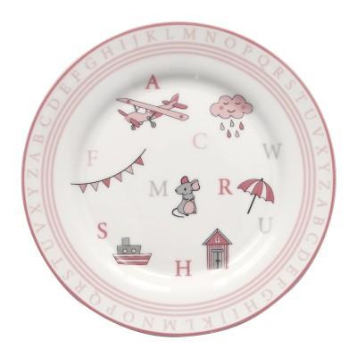 Детская тарелка Charlie pink 20 см