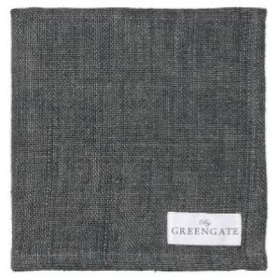 Салфетка heavy linen dark grey 40x40cm