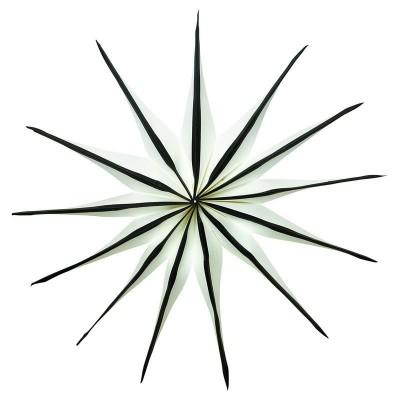 Звезда бумажная Nova white w/black 45 см