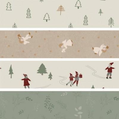 А Christmas designs Упаковочная бумага ассортименте