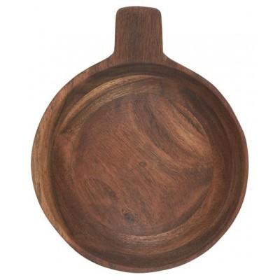 Пиала деревянная с ручкой 20 см
