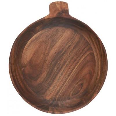 Пиала деревянная с ручкой 30 см