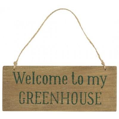 Деревянная табличка Welcome to my Greenhouse