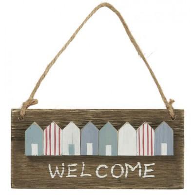 Деревянная табличка Welcome