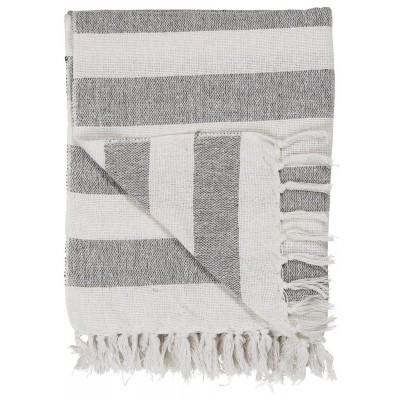 Покрывало white w/black stripes EXW Ribe