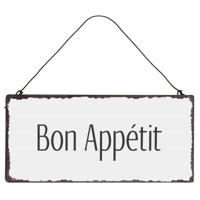Металлическая табличка Bon App?tit