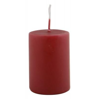 Свеча, высота 6см, красная