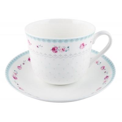 Чашка с блюдцем Salisbury Rose