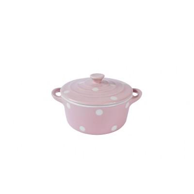Форма для запекания с крышкой Pink with dots 18x14 см