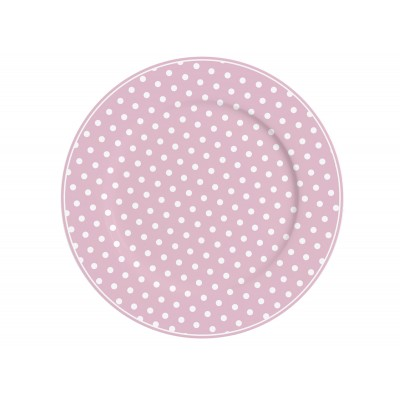 Тарелка Pink with dots 23 см