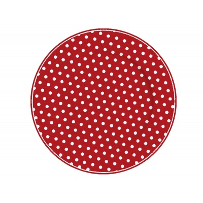Тарелка Red with dots 23 см