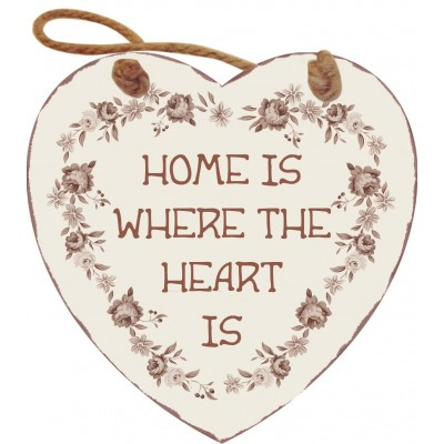 Деревянная табличка Home is where the heart is