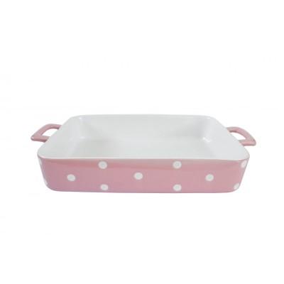 Форма для выпечки Pink large with dots 38,5x23,5x6,5 см