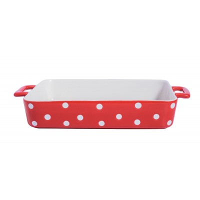 Форма для выпечки Red large with dots 38,5x23,5x6,5 см
