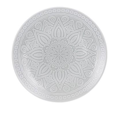Блюдо Stoneware Embossed Grey 27 см