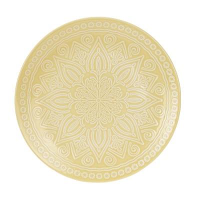 Блюдо Stoneware Embossed Yellow 27 см