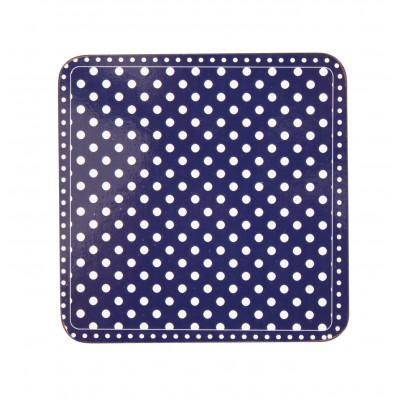 Подставка под горячее Dots dark blue (пробковая)