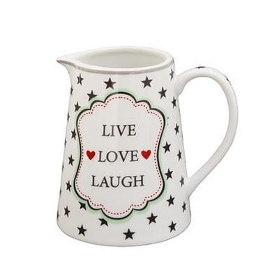 Молочник Live Love Laugh