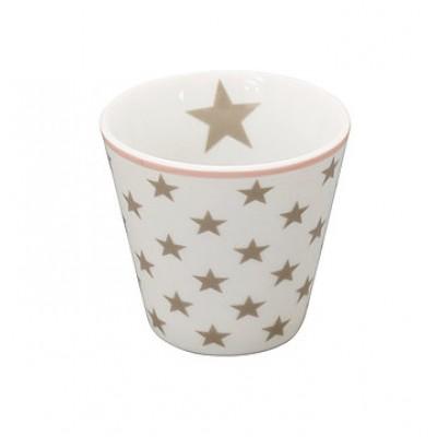 Стакан мини Star taupe white