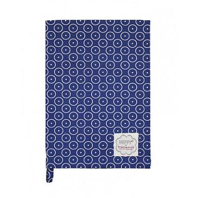 Полотенце Circle dot dark blue 50х70 см