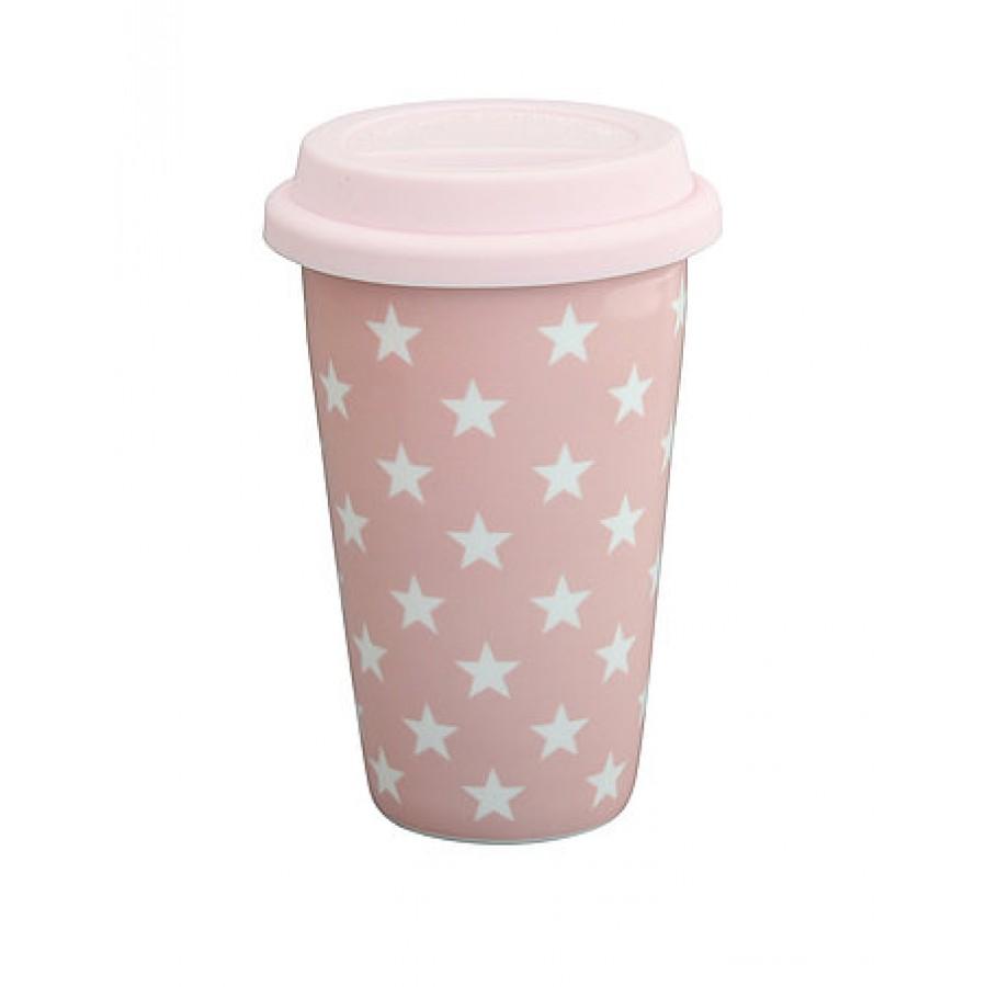 Термокружка pink  stars