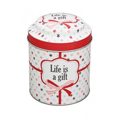 Банка жестяная Life is a gift