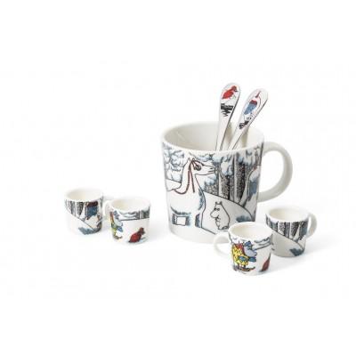 Набор чашечек для декора, Снежный конь, 4 шт., 3х3 см