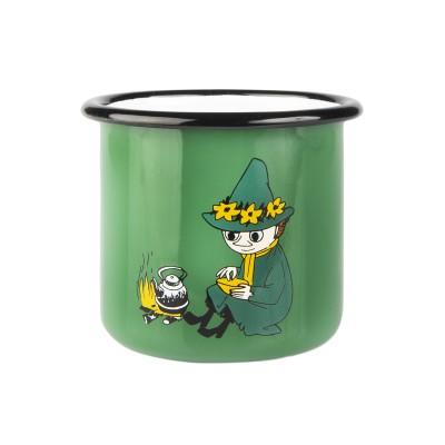 Moomin Кружка эмалированная Retro Снусмумрик зеленая, 370 мл