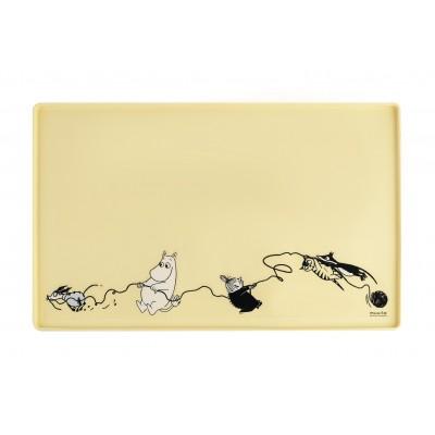 Силиконовый коврик для животных Moomin yellow 48х30 см