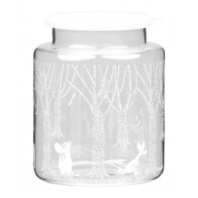 Стеклянная банка с силиконовой крышкой Moomin В лесу 2 л