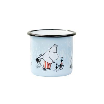 Moomin Кружка эмалированная Moomin День на льду, 370 мл