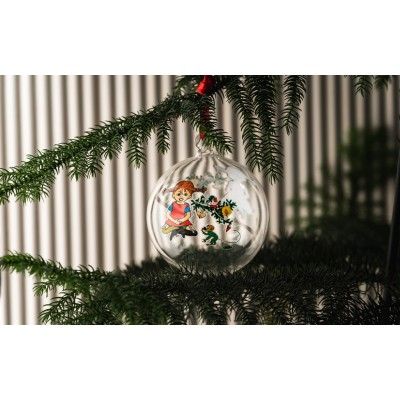 Елочный шар Pippi Длинный чулок 9 см