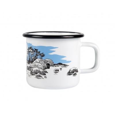 Moomin Кружка эмалированная Остров, 370 мл