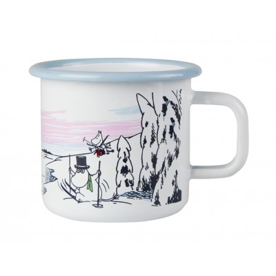 Moomin Кружка эмалированная Зимняя пора, 370 мл