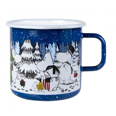 Moomin Кружка эмалированная Зимний лес, 800 мл
