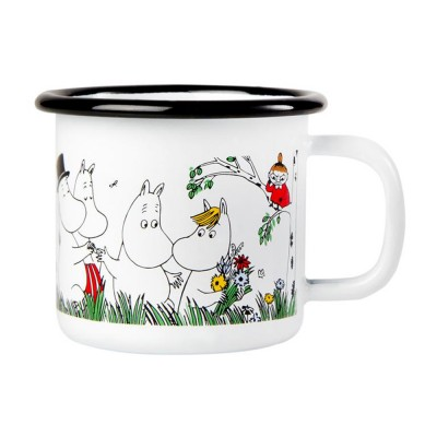 Moomin Кружка эмалированная Happy Family, 150 мл