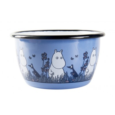 Moomin Friends Пиала эмалированная, 300мл, голубая