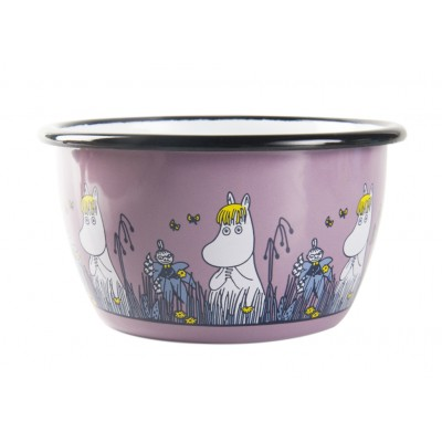 Moomin Friends Пиала эмалированная, 300мл, розовая